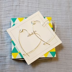 Stella & Dot Heart Hoop Earrings